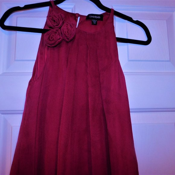 "bebe Dresses & Skirts - ""BEBE"" RED SHORT BUBBLE DRESS-XS"